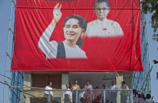 Aung San Suu Kyi's party claims sweeping election victory – but she's still banned from becoming president