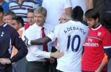 Spurs' win overshadowed by Adebayor, Wenger abuse