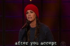 Alanis Morissette sang a modern day version of Ironic and it was gas