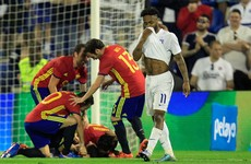 This stunning overhead kick was the highlight of Spain's win over England