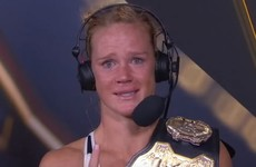 Emotional Holly Holm struggles to hold it together after defeating Rousey