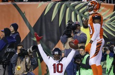 Ridiculous one-handed TD grab from Hopkins ends Bengals' unbeaten run
