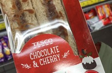 Tesco is selling chocolate and cherry-flavoured 'festive' sandwiches