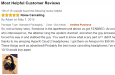 This Amazon review of noise-cancelling headphones takes a turn for the creepy