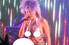 Miley Cyrus kicked off her new tour by wearing a massive strap-on on stage… it's the Dredge
