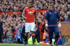 Injury blow for United with Valencia ruled out for longer than expected