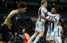 Arsenal's title hopes suffer setback following shock loss at West Brom