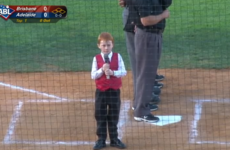 A kid got hiccups during the Aussie national anthem last night, and became an instant hero