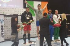 Massive medal haul for Irish athletes at European MMA Championships