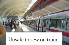 This woman's letter about how sewing is dangerous on trains has become a gas meme