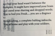 """Stay in bed you freak"": This is the kind of hate mail George Hook receives"
