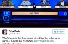 17 of the funniest University Challenge tweets of 2015