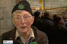 "The weed hat farmer from last night's news has thrown the hat ""into the fire"""