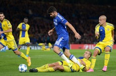 Ex-Chelsea defender sees red against his old side for kicking out at Diego Costa