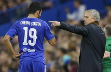 Jose Mourinho was embroiled in blazing row with Diego Costa during last night's game