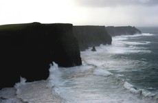 Winds from the Atlantic are so strong right now that they've shut the Cliffs of Moher