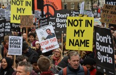 """Not in my name"" – thousands protest in London against air strikes on Syria"