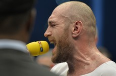 Tyson Fury celebrated in style last night…by belting out some Aerosmith