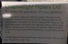 A group that 'resents fat people' is handing women these body-shaming cards