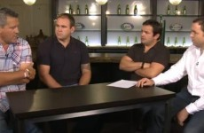 WATCH: Four men in a pub look forward to weekend showdowns