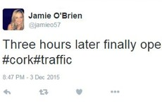 People were stuck in their cars for hours over flooding in Cork