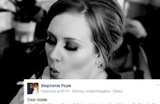 An Irish woman's brutally honest break up story has gone viral on Adele's Facebook page