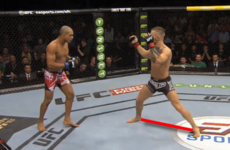 McGregor's wide stance a tempting target for Aldo's primary weapon