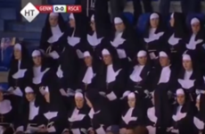There was very little entertainment during Genk v Anderlecht but there were lots of nuns