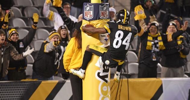 Antonio Brown got creative with his touchdown celebration