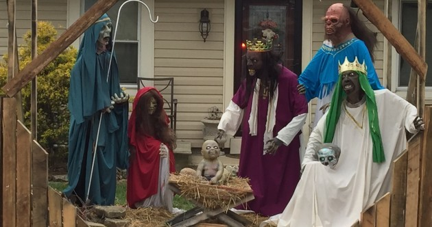 This guy is trolling Christmas itself with his controversial zombie nativity scene