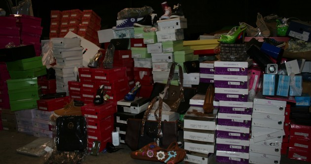 PHOTOS: Gardaí seize €200,000 worth of fake designer shoes, handbags and make-up