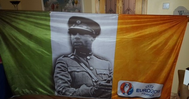 Fan's tricolour depicts Jon Walters as another great Irish leader