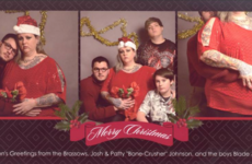 This lad hired a fake family to prank his relatives with a cringey Christmas card