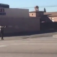 Video shows LA police shooting an armed man dead as he crawled away
