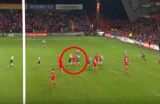 This is the penalty Anthony Foley was furious about after Munster's defeat