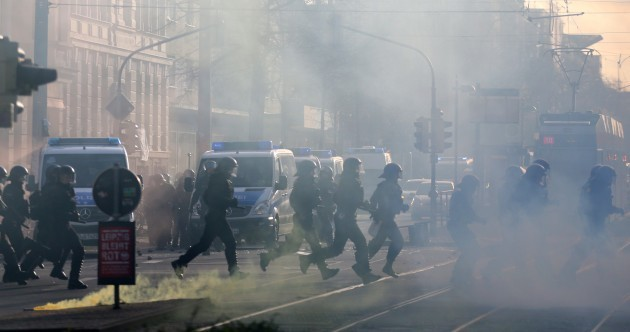 69 German police officers injured in clashes with left wing protesters
