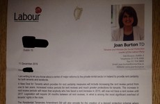 Department insists no issue with Joan Burton's 'unusual and concerning' letter to constituents