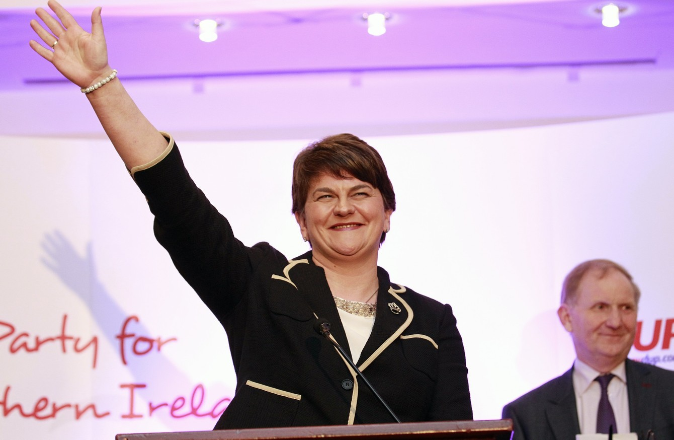 Arlene Foster has been named as DUP leader, and will take over the top job in January.