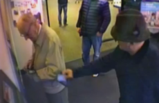CCTV video shows pensioner's bank card stolen while distracted at ATM