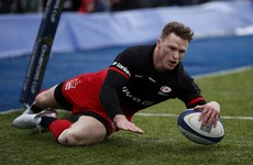 Hat-trick for Chris Ashton as Saracens continue to set pace in Ulster's group