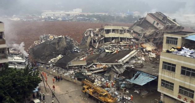 Video: Landslide leaves dozens missing and sparks gas explosion in China