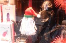 This Dublin fetish shop's Christmas window has Santy on a sex machine
