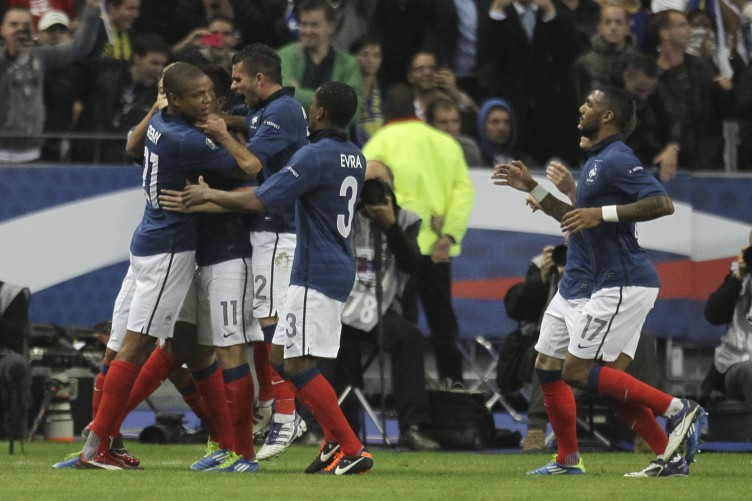 France qualified with a late Nasri goal.
