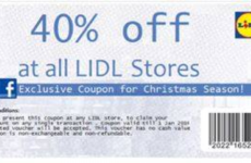 This Facebook voucher for Lidl is a scam