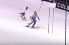 A kamikaze drone almost took out this skier mid-race