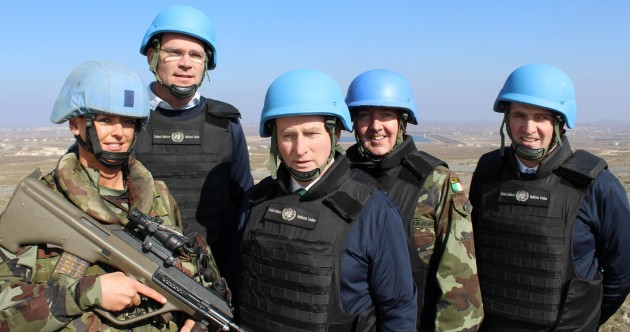 PICS: Enda dons a blue helmet, meets Irish troops and saves Christmas