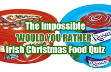 The Impossible 'Would You Rather' Irish Christmas Food Quiz