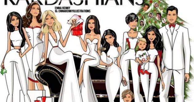 Kourtney Kardashian chose an Irish girl's card to wish everyone Merry Christmas ... It's The Dredge