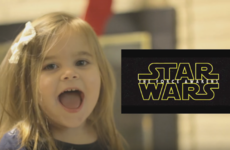 This little girl's excited reaction to the Star Wars trailer is just too adorable