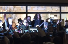 Hozier joined Bono and Glen Hansard for the traditional Christmas Eve busk on Grafton Street